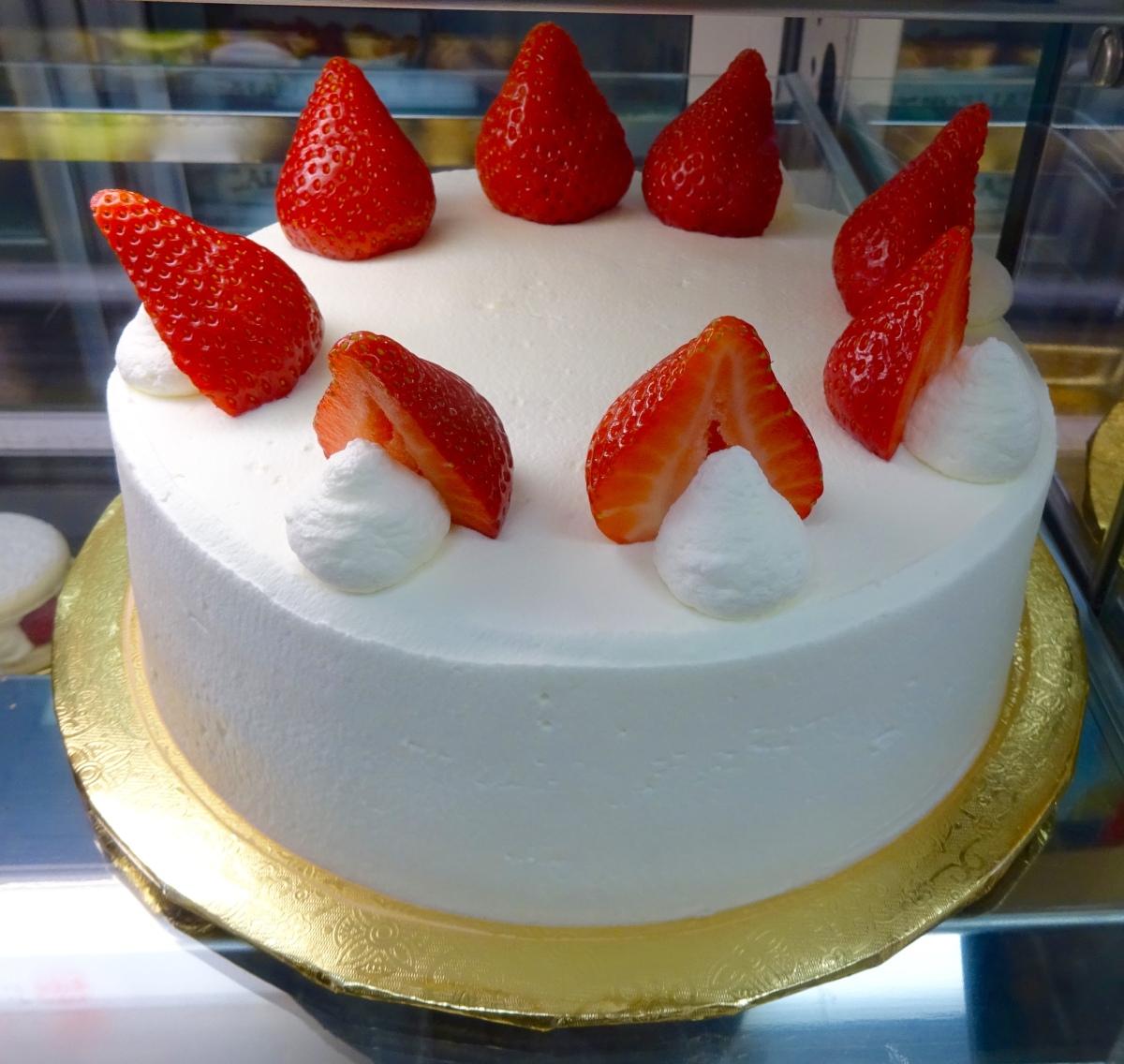 Japanese Strawberry Shortcake Cake Los Angeles